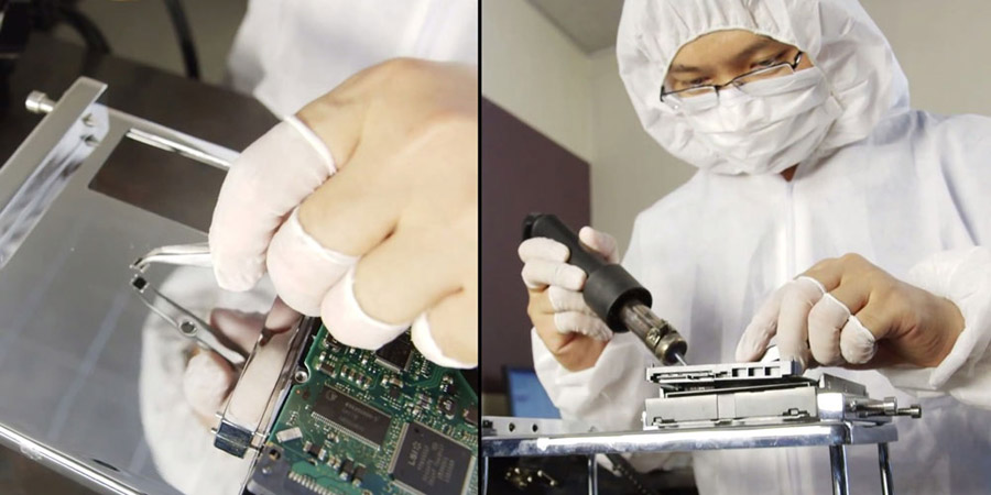 Data recovery procedure - soldering chip off of motherboard